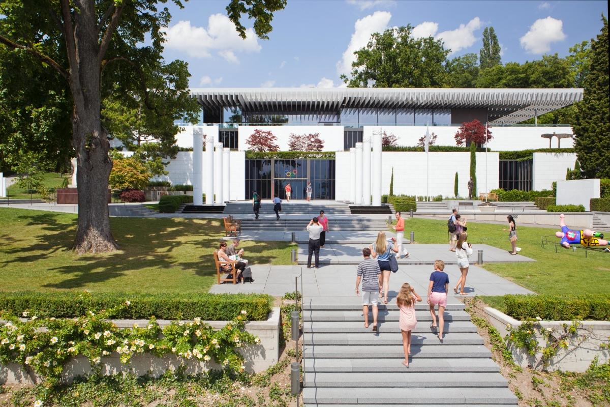 Le Musée Olympique  - vue extérieure Lydie Nesvadba CIO
