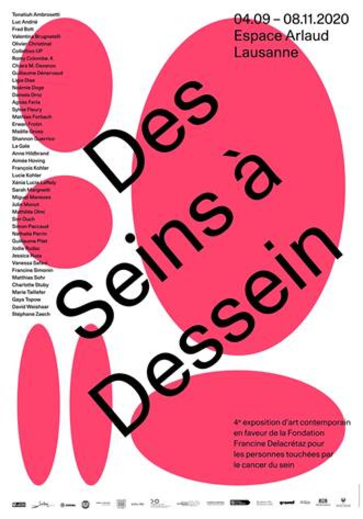 Affiche Des Seins à Dessin Fondation F. Delacrétaz