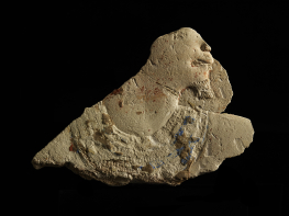Fragment d'un profil de dignitaire Calcaire polychrome Ancien Empire, IIIe-VIe dynastie  (2800-2200 av. J.-C.) - -