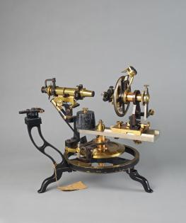 Goniomètre Goniomètre optique à deux cercles pour la mesure des cristaux, vers 1925. Stefan Ansermet Musée cantonal de géologie