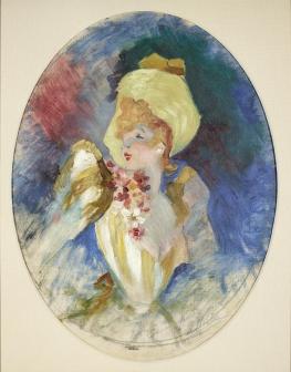 Jules Chéret, Etude pour l'affichee Folies-Bergère, L'arc-en-ciel, 1893, collection privée Jules Chéret © Tous droits réservés