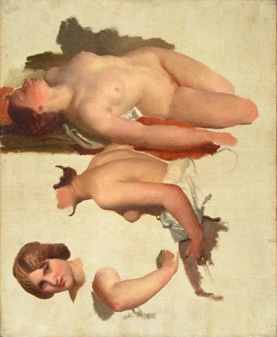 """""""Etudes pour La Danse des Bacchantes"""" (détail), 1848 – 1849, huile sur toile, 60 x 73 cm Charles Gleyre Musée cantonal des Beaux-Arts"""