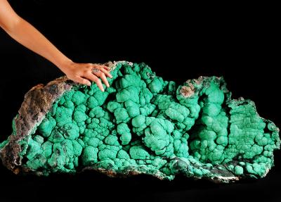 malachite du Congo Stefan Ansermet Musée cantonal de géologie
