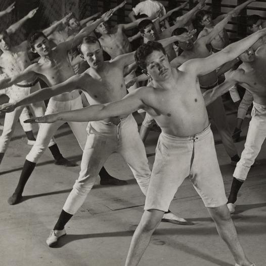 Salle de gymnastique, vers 1900, photographie, épreuve gélatino-argentique sur papier baryté Musée Historique Lausanne