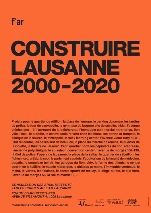 CONSTRUIRE LAUSANNE / 2000-2020
