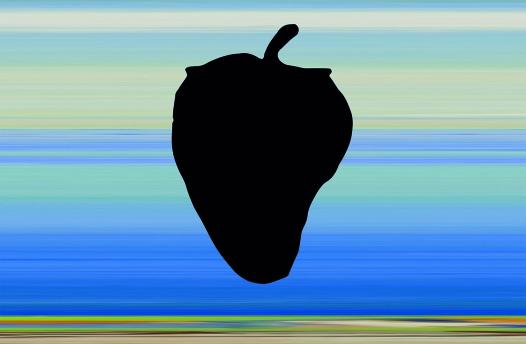 """Denis Savary, """"Corinna"""", 2021 Impression sur papier sur mur, dimensions variables. Denis Savary Courtoisie Denis Savary"""