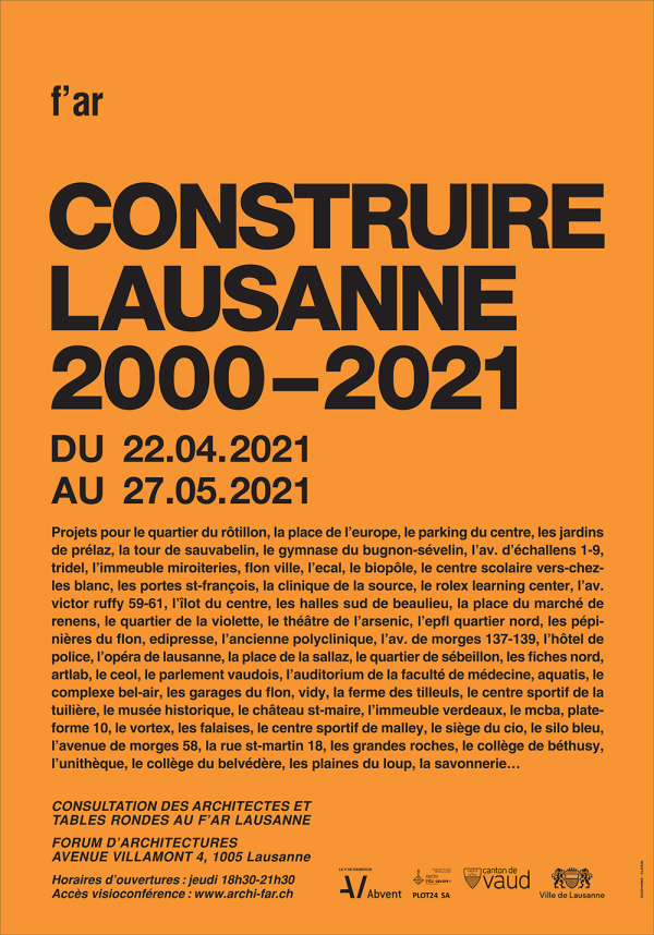 Construire Lausanne 2000-2021 far