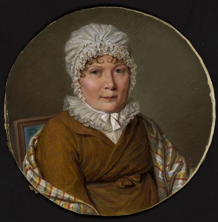 Madame Charrière de Bavois, miniature, c. 1800 MHL