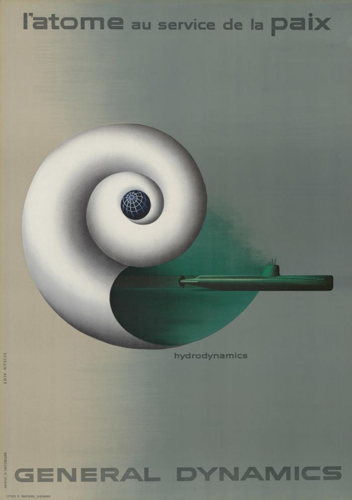 L'atome au service de la paix Erik Nitsche Musee historique Lausanne