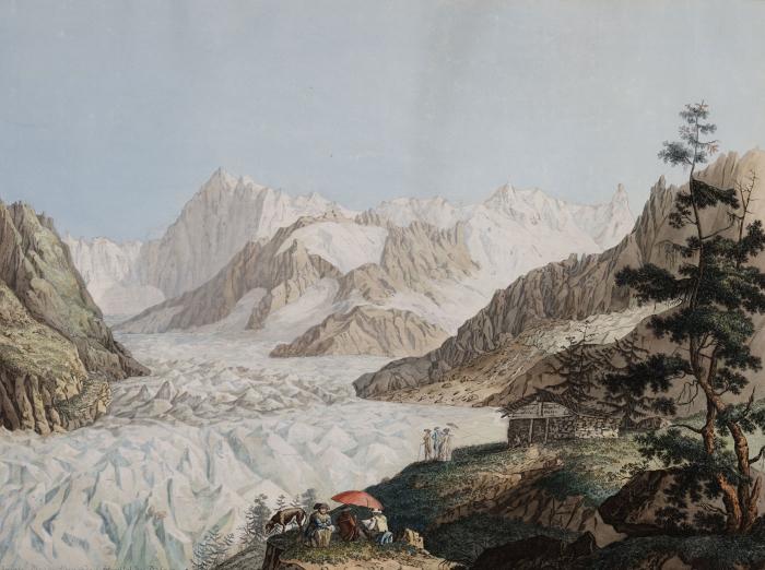 Carl Hackert, La Mer de Glace vue du Montenvers, 1781 Musée historique Lausanne Musée historique Lausanne