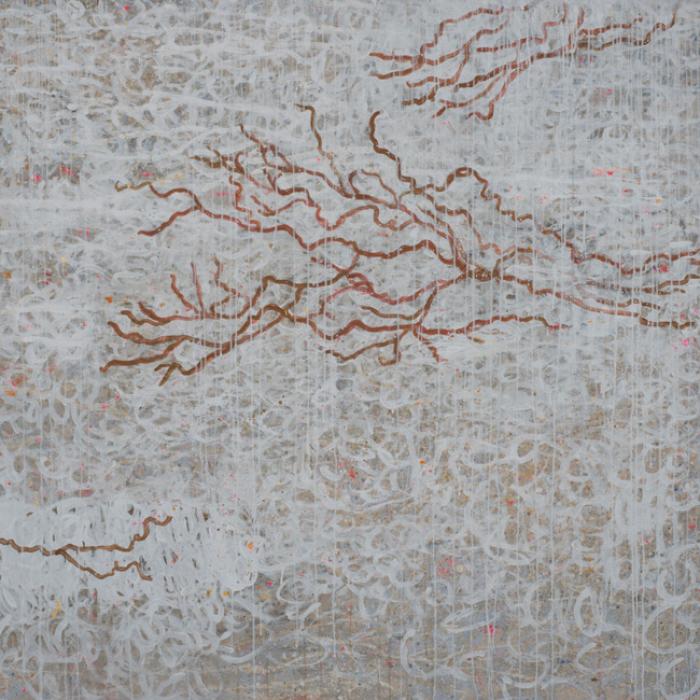 S.T. 2015, mixte / toile, 130 x 130 cm Silvana Solivella