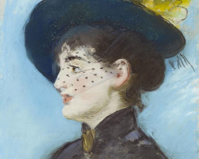 """La Viennoise Irma Brunner (détail) Edouard Manet (1832-1883) """"La Viennoise Irma Brunner"""" (détail) pastel sur toile, 57 x 36 cm Collection particulière Edouard Manet photo : Dominic Büttner, Zurich"""