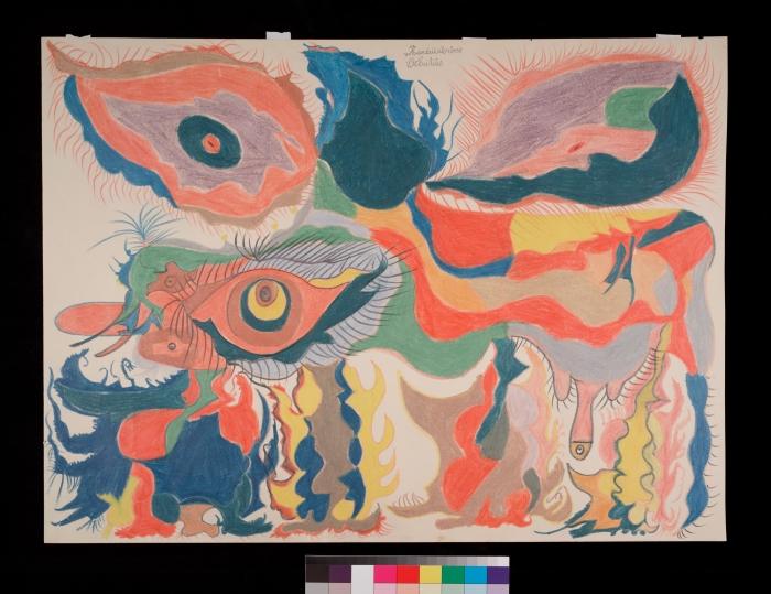 Gaston Duf / Rinâûsêrôse/ viltritiês, 1950 Gaston Duf Photo : Arnaud Conne /Collection de l'Art Brut