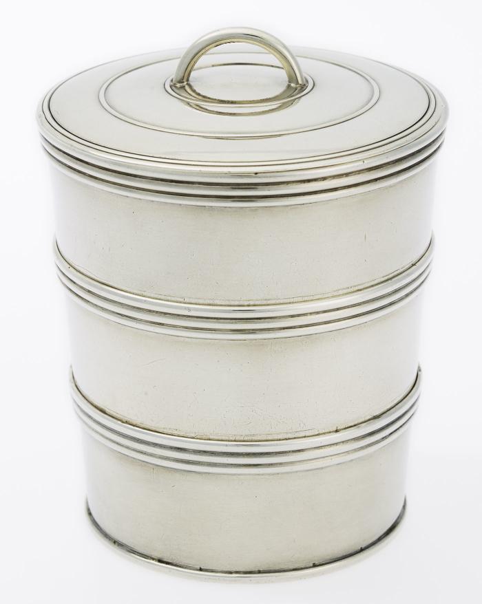 Gobelet de voyage repliable, Gély Frères à Lausanne, argent, vers 1820 MHL