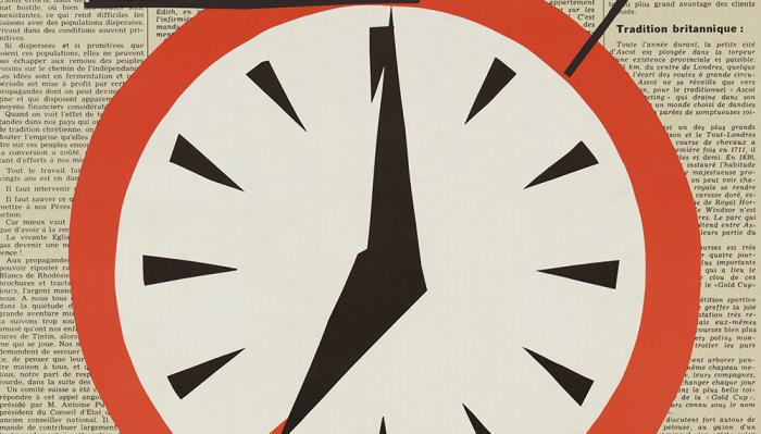 Journal et feuille d'avis du Valais (détail d'une affiche), lithographie, 1960 Musée Historique Lausanne