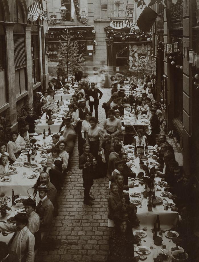 Banquet des fêtes d'inauguration du Simplon, Lausanne, 28 mai 1906, aristotype à la gélatine Musée Historique Lausanne
