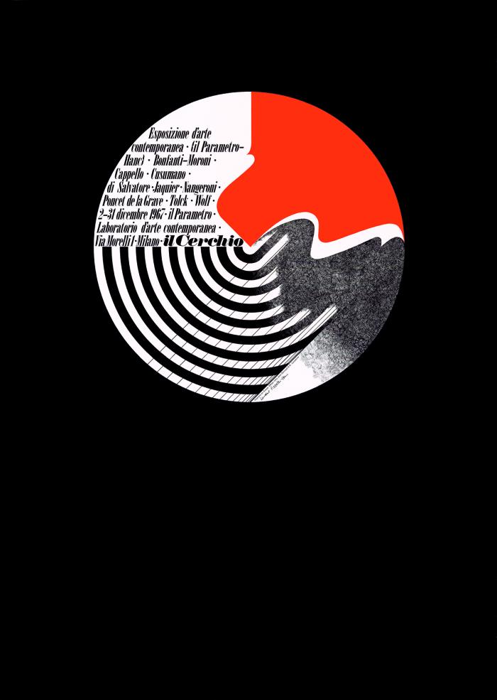 Laurent Pizzotti, Il Cerchio, Esposizione d'arte contemporanea Milano, impression offset Genoud, 1967 Musée Historique Lausanne