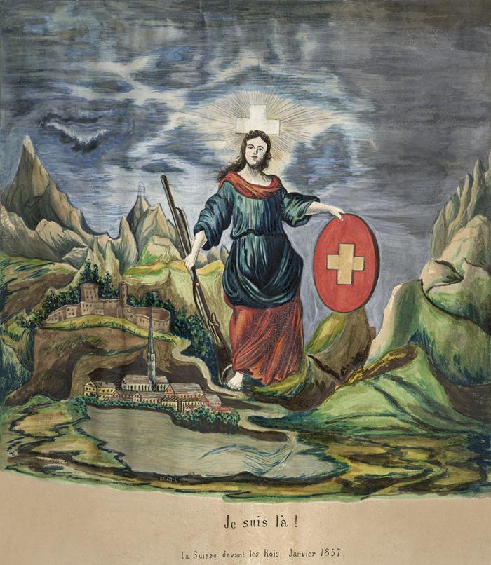 Je suis là! Allégorie de l'Helvetia Musée Historique Lausanne
