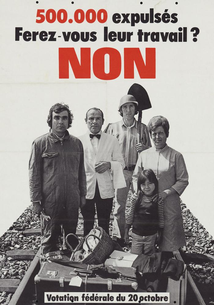Misteli ASC - CAG, Neuchâtel, Votation fédérale du 20 octobre, offset, 1974 Musée Historique Lausanne
